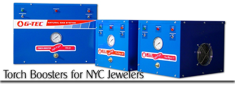 Natural gas pressure booster systems for diamond district jewelry manufacturers