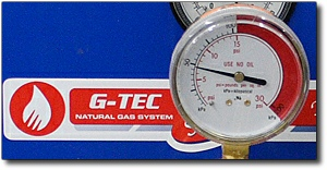 Set natural gas pressure at 5 psi or higher - don't settle for 1/4 psi gas