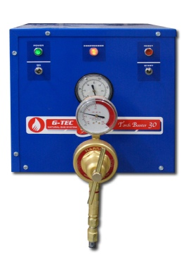 Install a reagulator to set gas pressure from 1 to 25 psi