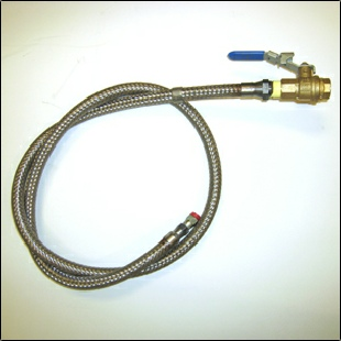 DOB Approved stainless steel hose to connect to gas pipe